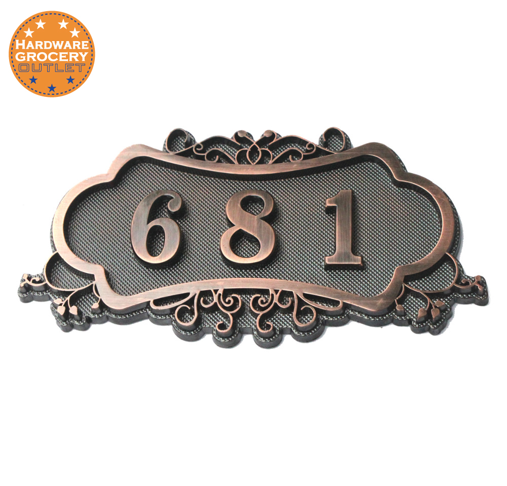 House Number; European style Door Sign; Gate Number;Custom-made;3 to 4 numbers;3D Digital;Apartment,House,Hotel,Villa door plate black metal house numbers horizontal door numbers house sign