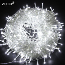 50M 400 Fairy LED String Light Outdoor Waterproof AC220V 110V Chirstmas String Garland For Xmas Wedding Christmas Party Holiday 50m 400 leds ac220v waterproof outdoor colorful led xmas christmas light for wedding christmas party holiday