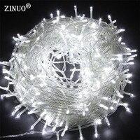 Zinuo 50 M 400 hadas Tiras de luces de LED luz al aire libre impermeable ac220v Navidad guirnalda de cuerda para Navidad boda Navidad fiesta
