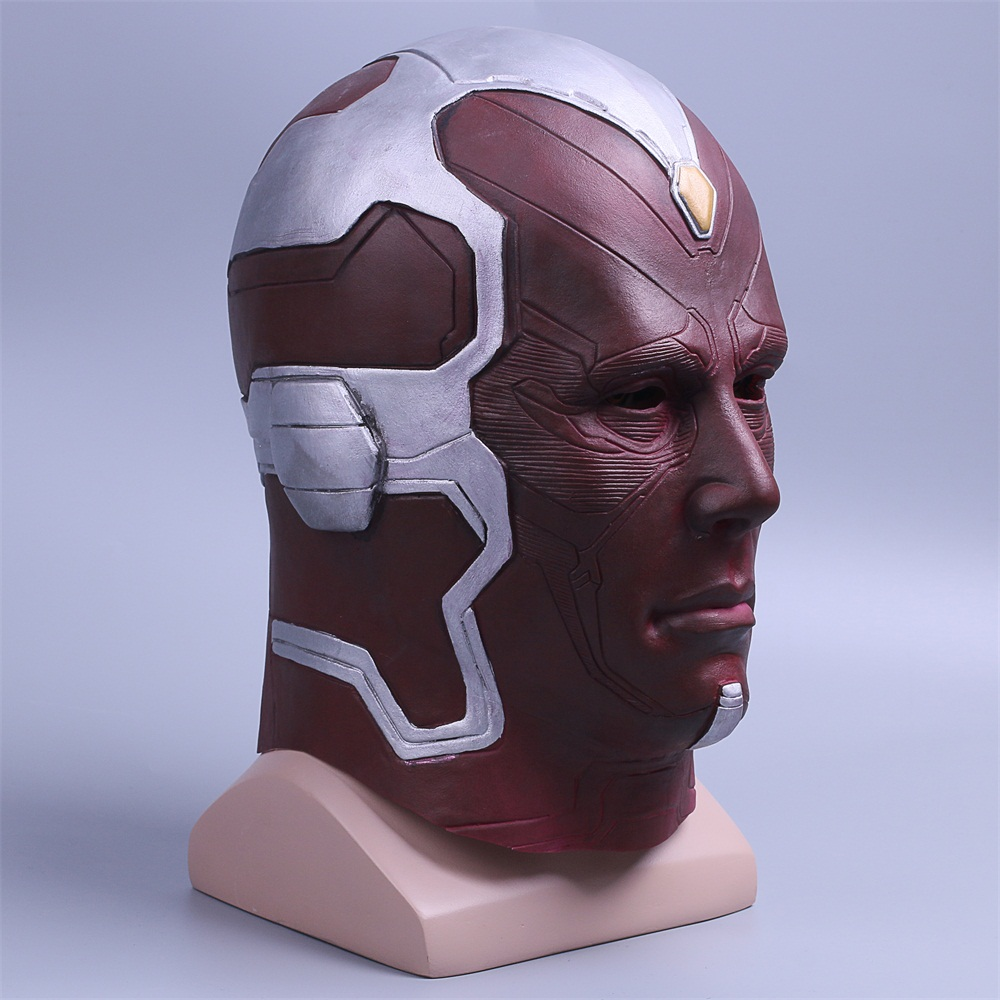 Cosplay Marvel Vision Mask Superhero Mask Full Head Halloween Helmet Latex New (6)
