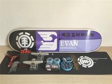 1Set Complete Skateboard Mixed Brands Skate Deck Trucks Wheels & Bearings Plus Riser Pad Hardware Set & Installing Tool