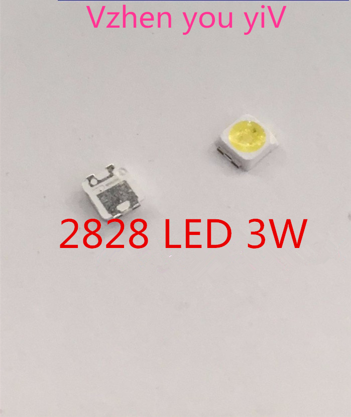FOR SAMSUNG 100pcs 2828 LED Backlight TT321A 1.5W-3W with zener 3V 3228 2828 Cool white LCD Backlight for TV TV Application