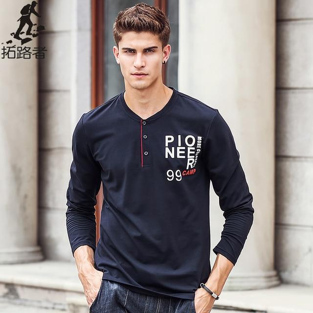 Пионерский Лагерь футболка с Длинным рукавом мужчины марка одежды высокого качества Нового прибытия Весна осень Моды Случайные Мужской Футболка 622143