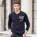 Pioneer Camp Long sleeve T shirt men brand clothing high quality New arrival Spring autumn Fashion Casual Male T-Shirt 622143