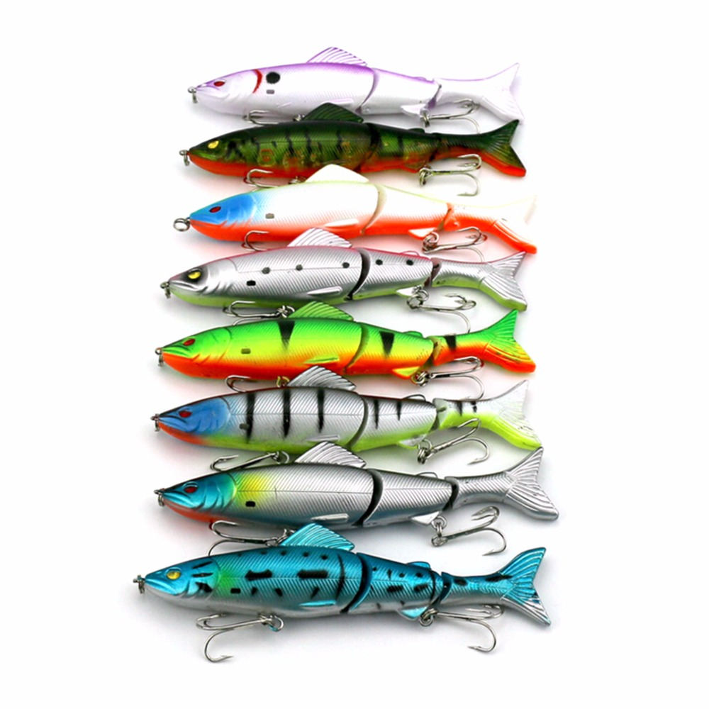 цены  8 Pieces Durable Lures Spinner Baits Assorted Fish Tackle Hooks 12.5cm free shipping