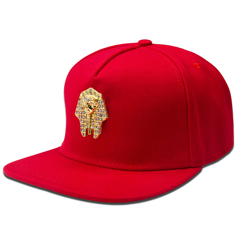 Women Men Bling Golden Rhinestone Egyptian Pharaoh Snapback Hats Last King LK Baseball Caps Gorras golf sports hip hop hat