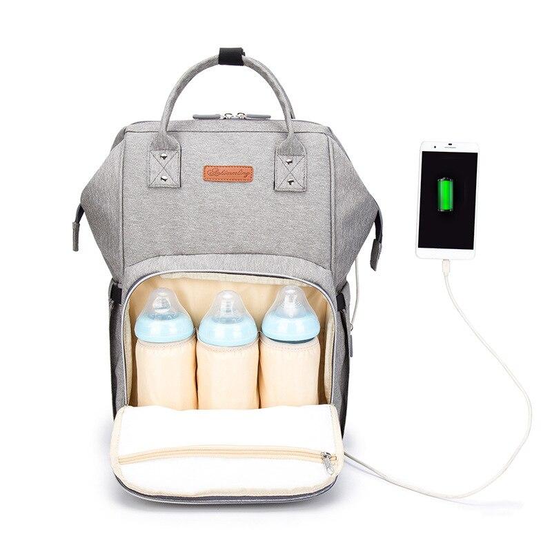 100% QualitäT Windel Tasche Rucksack Usb-schnittstelle Windel Tasche Große Kapazität Wasserdicht Mumie Mutterschaft Tasche Für Kinderwagen Kinder Kardieren Produkt