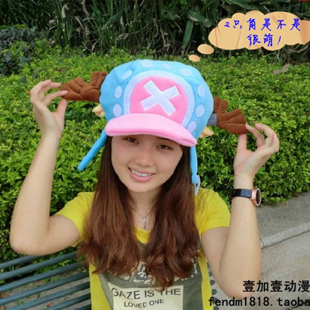 f78068c07a6961 One Piece Tony Tony Chopper Two Years After Hat Blue Pink Cosplay Hats
