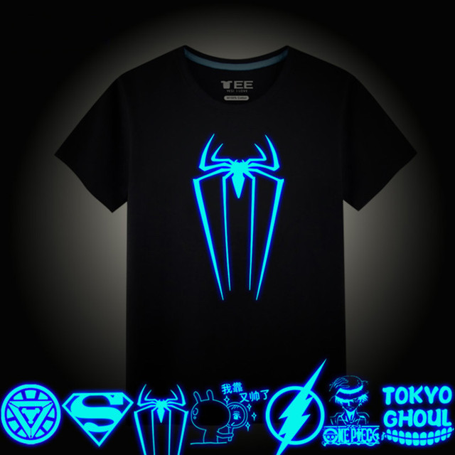 f1ee1f1ecf7 Boys T Shirt Summer Cotton Luminous T-Shirt For Children Clothing Cartoon  Glow In The Dark Clothes Boys Tops Novetly Kids Tees