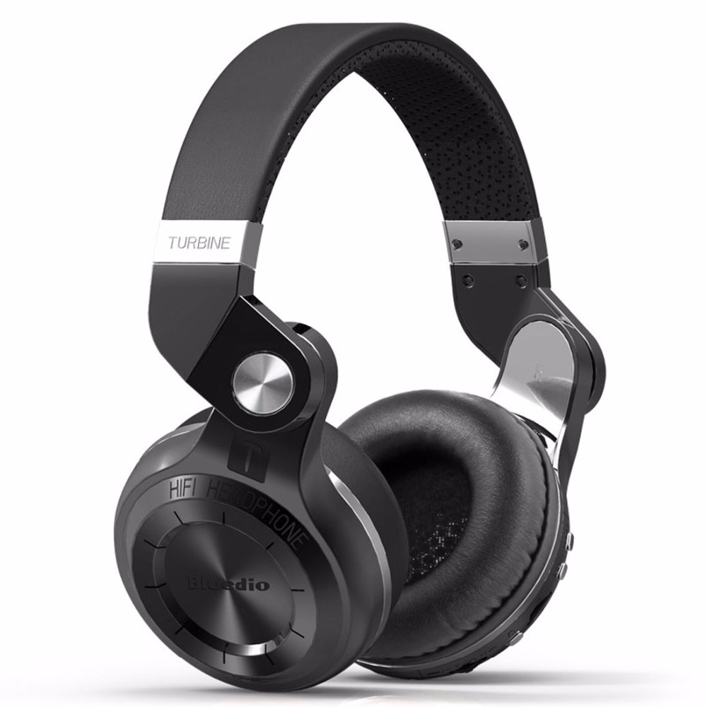 Bluedio T2+ Bluetooth Headphone Over-Ear Wireless Foldable Headphones with Mic BT 4.1 FM Radio SD Card Headset