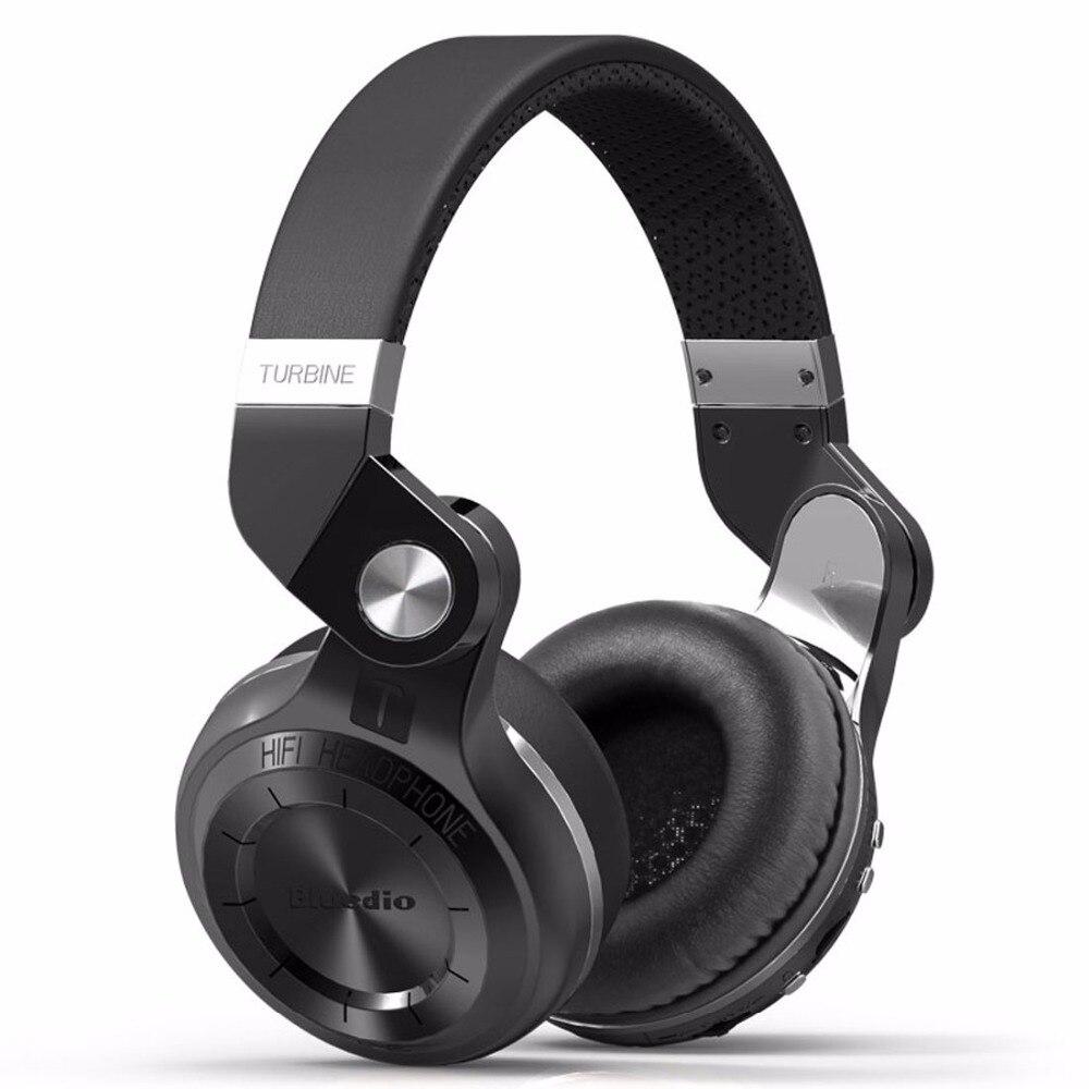Bluedio T2 + auriculares Bluetooth de oído inalámbrico plegable auriculares con micrófono BT Radio FM 5,0 tarjeta SD auriculares