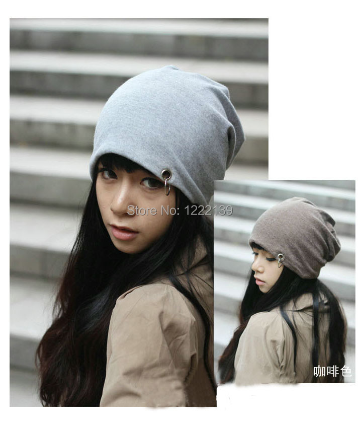 NEW ARRIVAL Baggy Beanie Womens Hats Fashion Slouchy Beanies Skullies Caps With  A Ring Design-in Skullies   Beanies from Apparel Accessories on ... c1df7e8fa2f