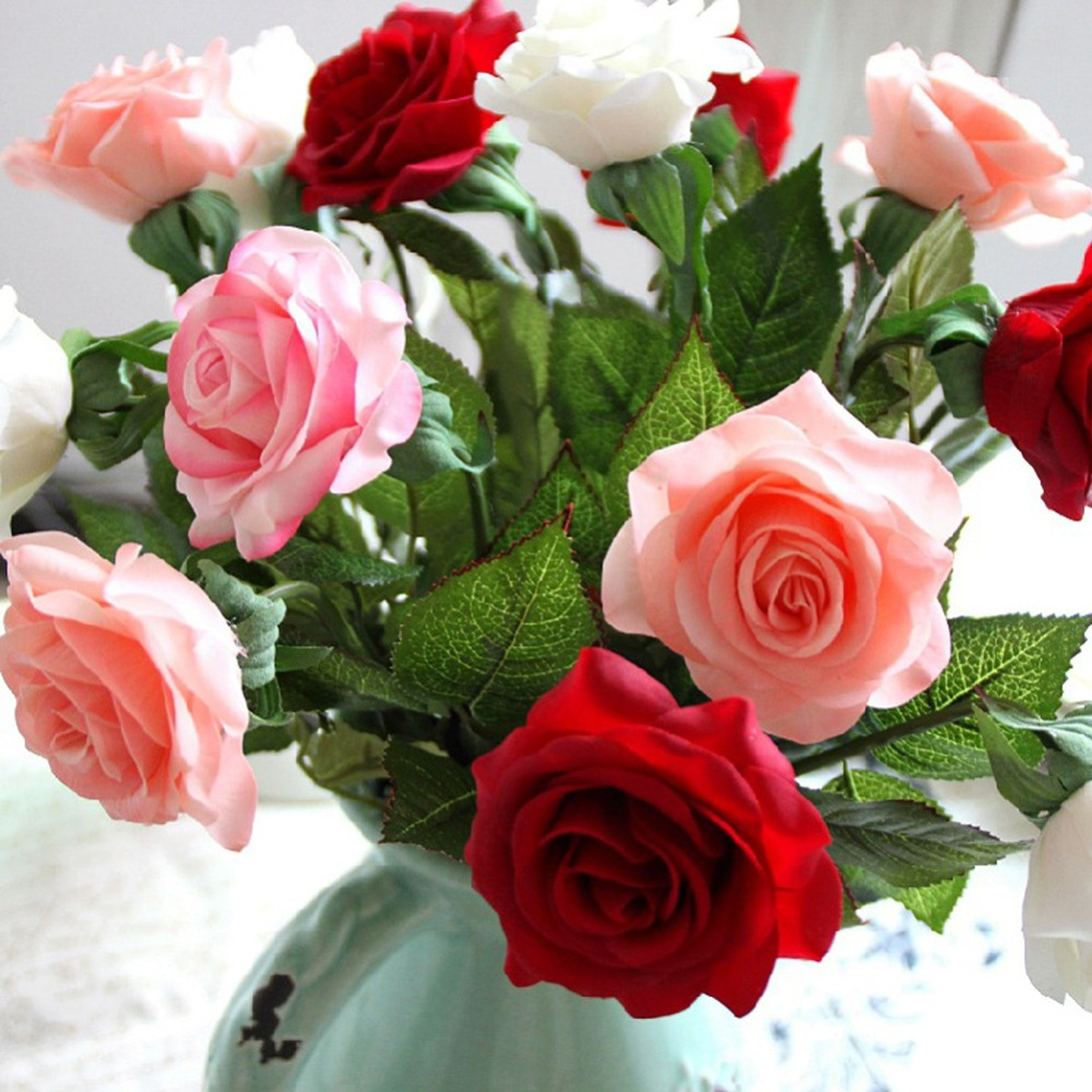 Aliexpress buy 10pcslot champagne silk rose artificial aliexpress buy 10pcslot champagne silk rose artificial flowers rose decor real touch floral wedding bouquet home decoration drop shipping from izmirmasajfo