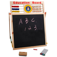Children Wooden 2 In 1 Blackboard Magnetic Whiteboard Double Sided Drawing Writing Education Board Easel With