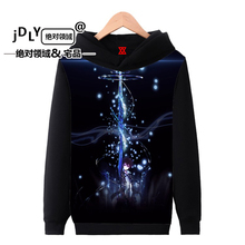 anime Guilty Crown Ye pray Hoodies animation around men and women autumn and winter plus velvet hooded long sleeve