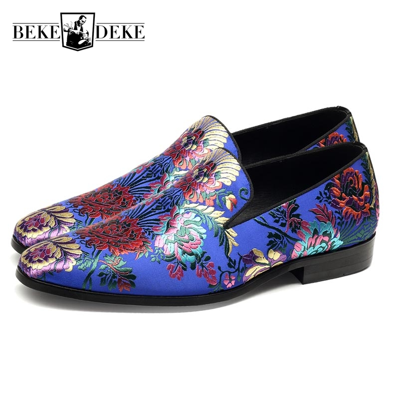 цены Korean Style Embroidery Slip On Genuine Leather Cow Leather Breathable New Fashion Mens Casual Shoes Male Footwear Blue Black