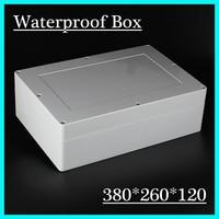 380*260*120 미리메터 플라스틱 인클로저 전자 정션 박스 연결 상자 ip68 플라스틱 방수 인클로저