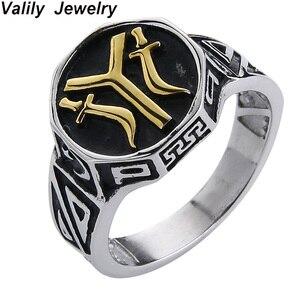 Мужское кольцо Valily the 24 Oghuz из нержавеющей стали, мужское кольцо otomans Seal Kayi Ertugrul, мужское крутое кольцо, ювелирные изделия Anillo Hombre