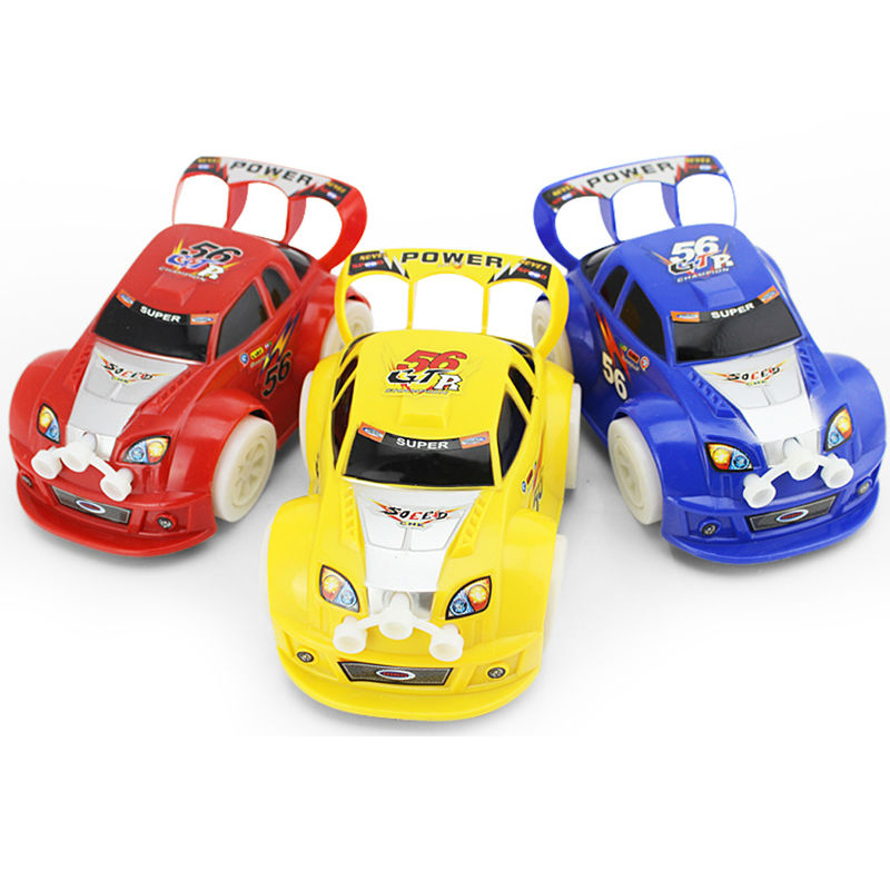 New Kid Flashing Car Toy 1:48 Automatic Steering Flashing Music Racing Car Electric Toy Car Gift Car Toys FCI#