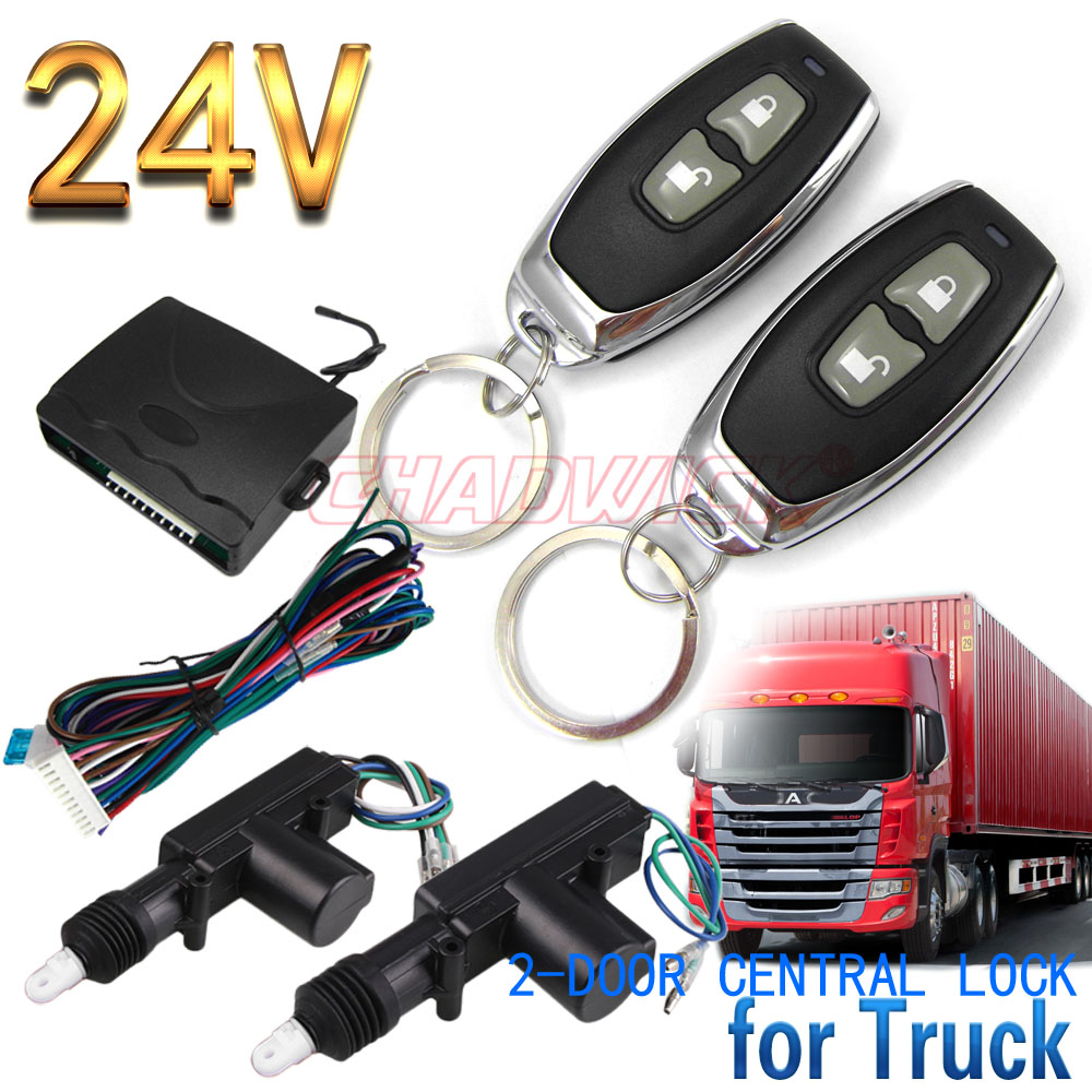 Keyless Entry System 2 button remote control for truck 24V Universal Construction Vehicle 2 door lock unlock CHADWICK 8110 in Burglar Alarm from Automobiles Motorcycles
