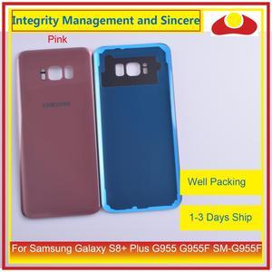 Image 4 - Original pour Samsung Galaxy S8 + Plus G955 G955F boîtier de SM G955 batterie porte arrière couvercle en verre coque châssis