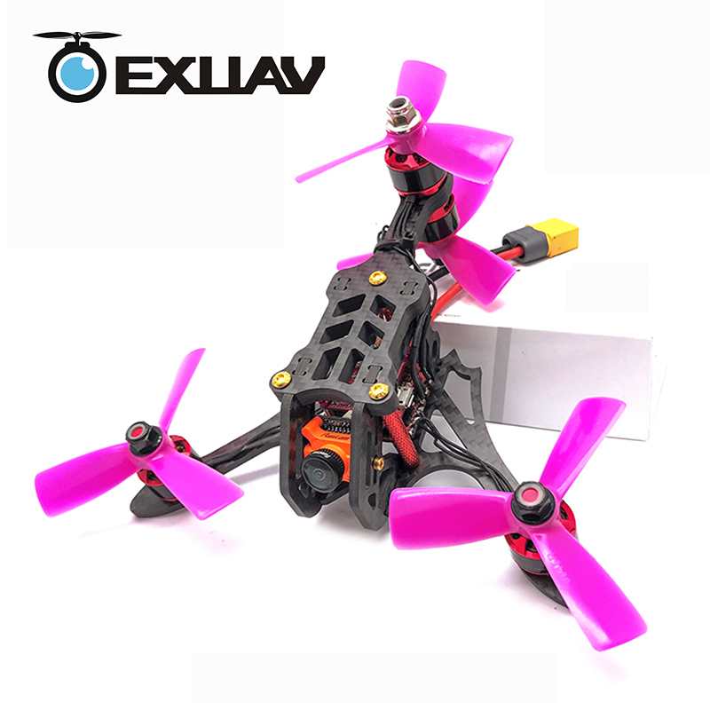 EXUAV Y4 Mini 120mm Wheelbase FPV Racing Drone Y4-TYPE design Carbon Fiber Frame Flytower Racing Mini F4 for RC DIY Toys awesome f100 100mm quadcopter frame kit wheelbase mini four axis aircraft pure carbon fiber for fpv rc racing drone frame kit