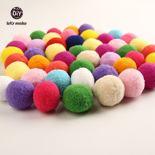 Lets Make 100pclot Plush Ball Felt Soft Balls Fluffy Balls Pattern