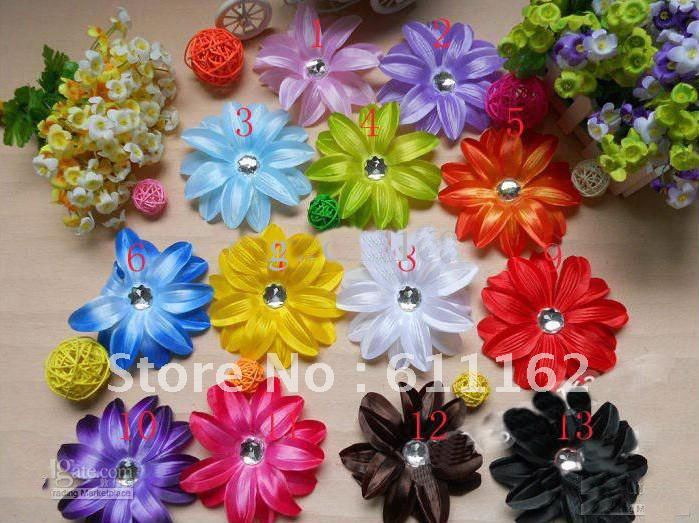 120 шт., бант для волос лилии, цветы, Детские волосы, украшенные цветами, бант для волос для девочек, Бант PLM9