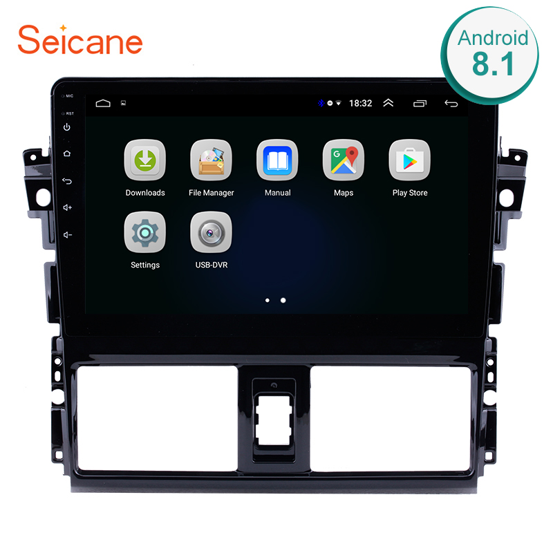 Seicane 2Din Android 8.1 10.1 inch GPS Car Radio Touchscreen Wifi Multimedia Player Head Unit For 2013 2014 Toyota ViosSeicane 2Din Android 8.1 10.1 inch GPS Car Radio Touchscreen Wifi Multimedia Player Head Unit For 2013 2014 Toyota Vios