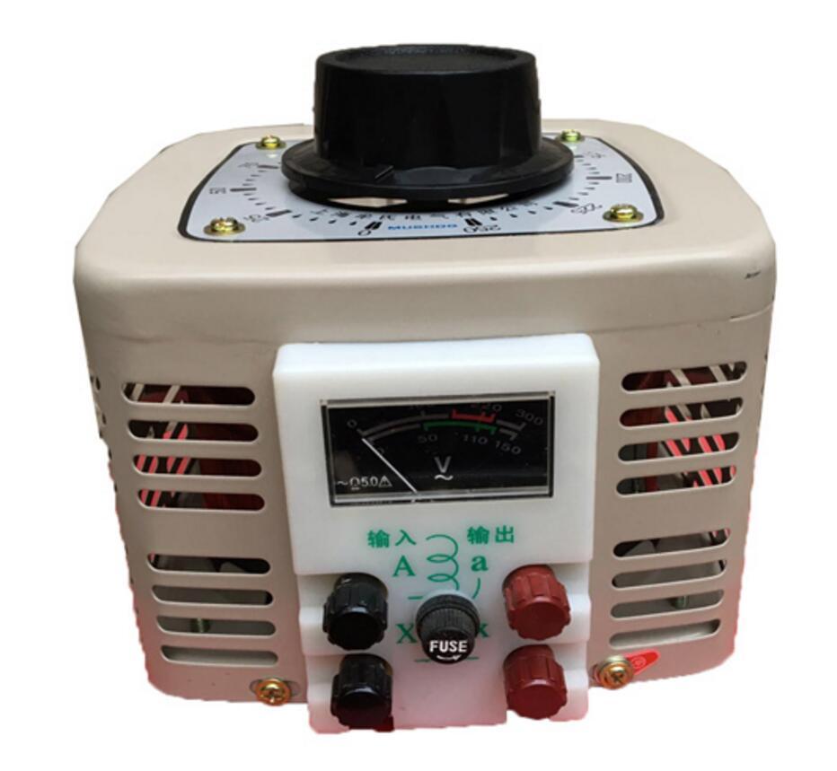 купить Voltage converter 1000W single-phase 220V with fuse contact type autotransformer TDGC2-1KVA по цене 2855.9 рублей