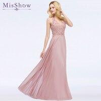 Long pink Cheap Long Bridesmaid Dresses 2018 A Line Deep V Neck Sleeveless Vestido da dama de honra wedding party prom dresses