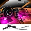 Один с 2 piecs 7 Цветов RGB Led Автомобилей Атмосфера Огни украшение Лампы 12 В Авто CarLed Внутреннее Освещение Glow Декоративные Лампы лампы