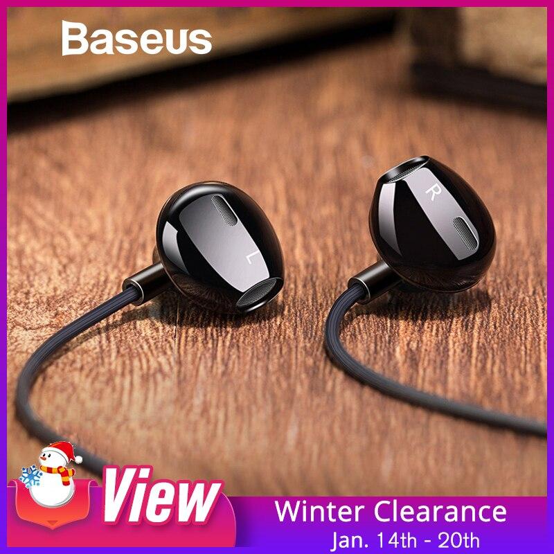 Baseus H06 In-ohr Stereo Bass Kopfhörer Kopfhörer 3,5mm jack wired steuerung HiFi Ohrhörer Headset für iPhone Xiaomi Handy