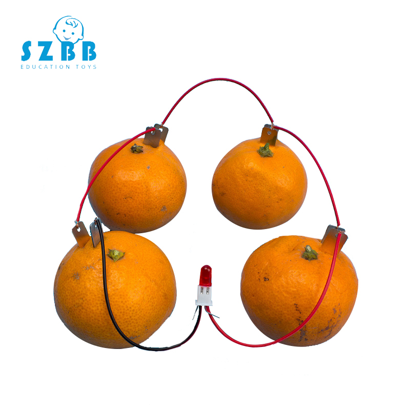 SZ STEAM DIY Homemade Fruit Battery Power Educational Electricity-generating Experiment Kit Potatoes Battery Generator SZ33f7