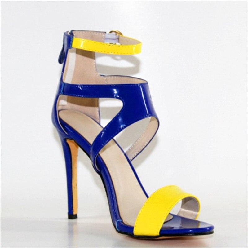 Manera Varios Mujeres 45 Tacón Alto Colores 11 Cuero Tamaño De Envío Shofoo Simple Multiple Cm La Zapatos 34 Sandalias Libre Las qf1wI8axp