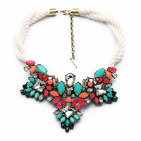Shijie New Hot Sale Pendant Women Latest Imitation Jewelry Women Statement Green And Red Choker Necklaces