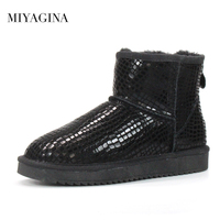Fashion Women Snow Boots Genuine Leather Woman Boots 100 Natural Fur Warm Shoes Women Ankle