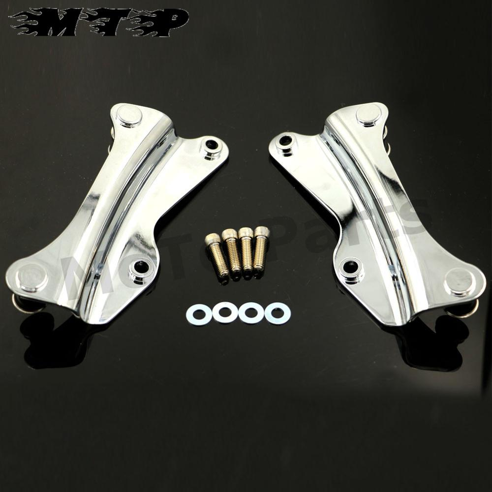 Chrome 4-Point Docking Hardware Kit Mounting Bracket For Harley Electra Street Road Glide FL 2014 2015 2016 4pcs yhhp artistic hand painted abstract oil painting