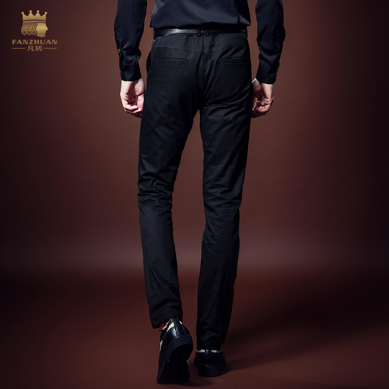 FANZHUAN Featured Clothing Gothic Style Embroidery Slim Fit Pants Mens casual pants Men Trousers Men Full Length Straight Pants