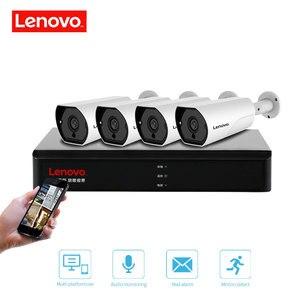 Image 5 - LENOVO 4CH 1080P POE NVR Kit 2.0MP HD CCTV Security camera System Audio monitor IP Camera P2P Outdoor Video Surveillance System