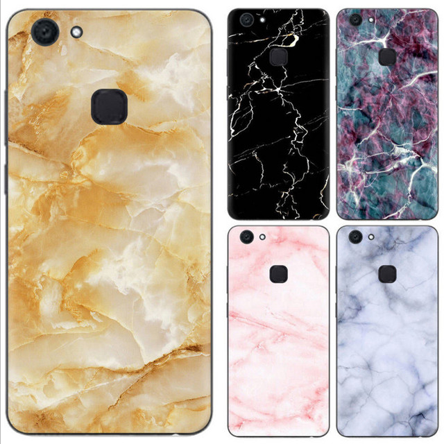 best service e1555 838d0 US $3.22  Aliexpress.com : Buy For Vivo V7 Plus Case Vintage Marble Texture  Pattern Soft Silicone TPU Protective Back Cover For Vivo Y79 Phone Coque ...