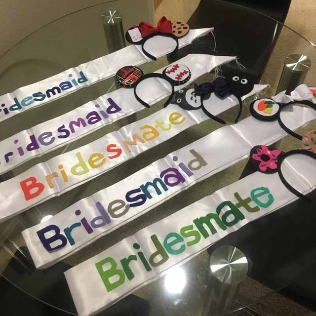 Blank Satin Make Your Own Sash For Birthday Bride To Be Bachelorette