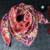 100% impressão de Seda Sarja lenço de seda Quadrado 90x90 cm Mulheres Lenços 2017 Mulheres Primavera Cachecol Xales de Marca de Luxo Wraps SC