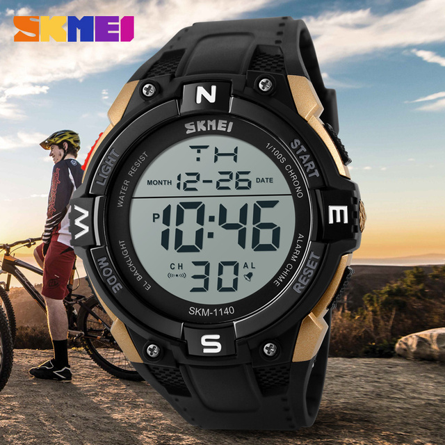 SKMEI Men Big Digital Watch Waterproof Outdoor Sports Watches Men Multifunction LED Wristwatches Men's Watches