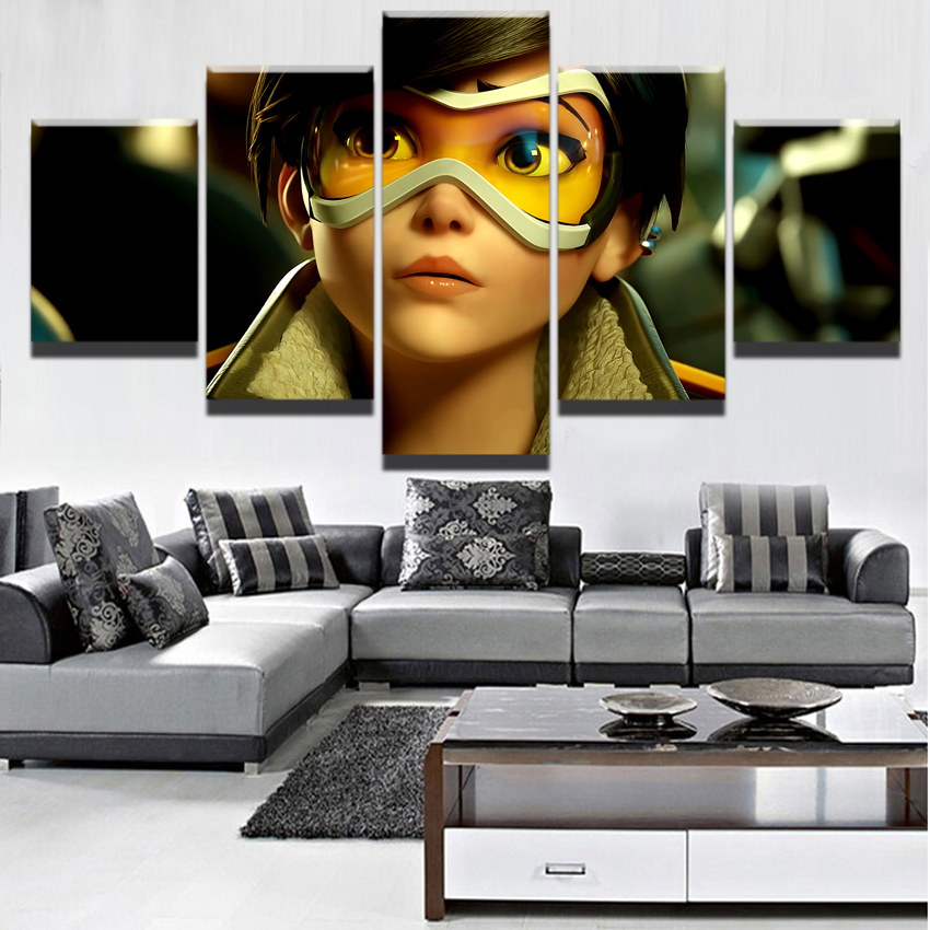 Overwatch Wall Art Poster Scroll for Home Room Decoration Gift