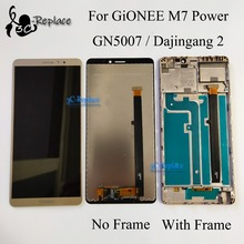 "6.0"" New 100% tested For Gionee M7 Power LCD display touch screen sensor digitizer assembly with frame GN5007 lcd free shipping"