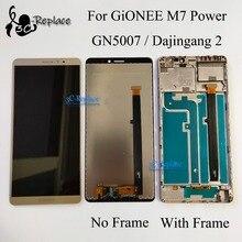 """6.0 """"Novo 100% testado Para Gionee M7 Poder sensor de LCD screen display toque digitador assembléia com frame GN5007 lcd frete grátis"""