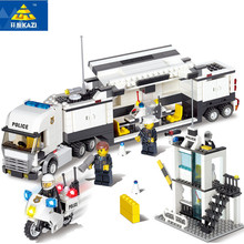 Купить с кэшбэком 511pcs Police Station Building Blocks  Bricks Educational Toys Model Building Compatible with lego Birthday Gift Toy Brinquedos