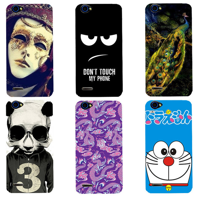 Cute Cartoon Case For ZTE Blade L4 T610 A460 Cover HD UV Printing Soft Silicone Printed Phone Back Shell Capa Funda