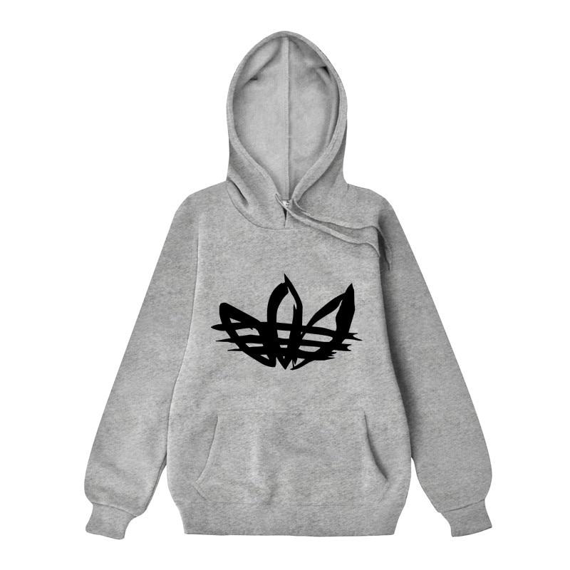 2019 Männer Druck Hoodies Paar Pullover High Street Baumwolle Mode Hip Hop Streetwear Casual Tasche Hoodie Herbst